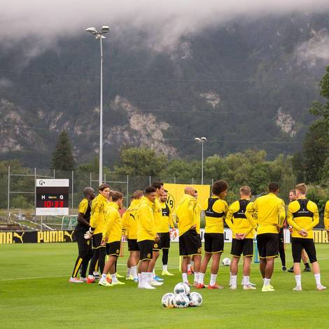 BVB-Spieler im Trainingslager in Bad Ragaz