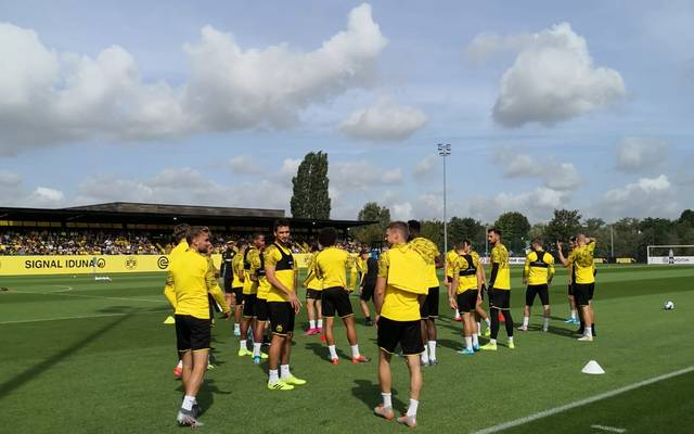 BVB beim Training am 20. August 2019