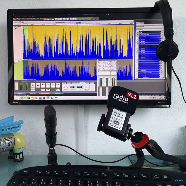 Home Office von Radio 91.2-Reporter Markus Bauer.