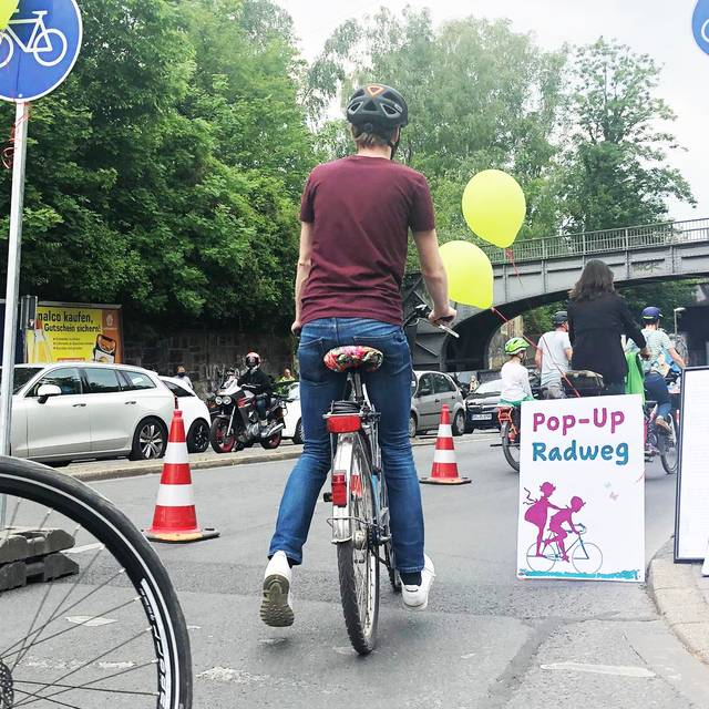 Pop-Up-Radweg in Dortmund
